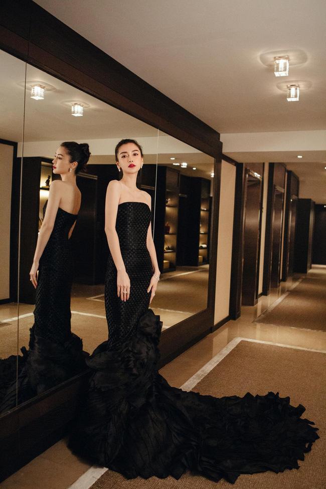 Không cần váy áo sặc sỡ đính sương sa, mỹ nhân Hoa - Hàn chỉ diện đầm đen huyền bí là đã đẹp không thốt nên lời - Ảnh 5.