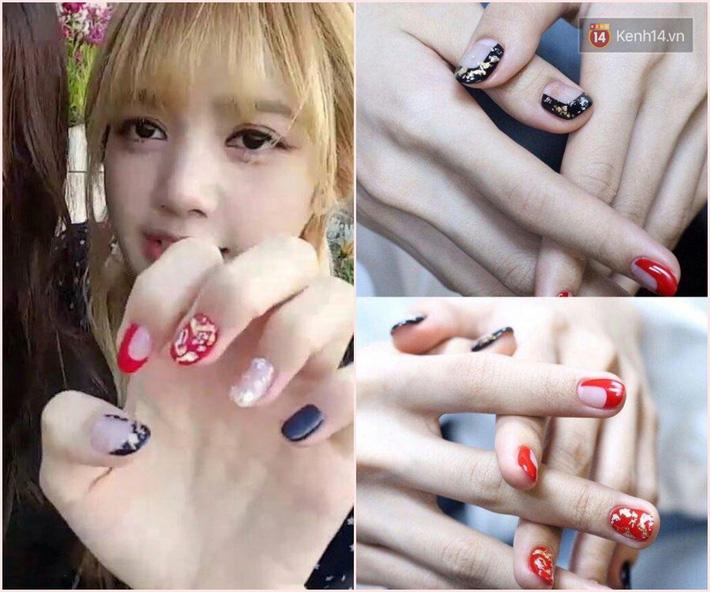Làm nail kiểu Lisa: Không tô vẽ cầu kỳ mà toàn đính đá lồng lộn, nổi bần bật không trượt phát nào - Ảnh 5.