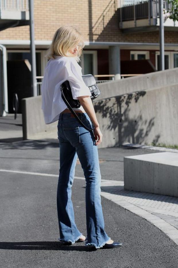 Mãi đến tận bây giờ, tôi mới biết đây là 4 dáng quần jeans mà người đùi to như tôi có thể mặc đẹp - Ảnh 12.