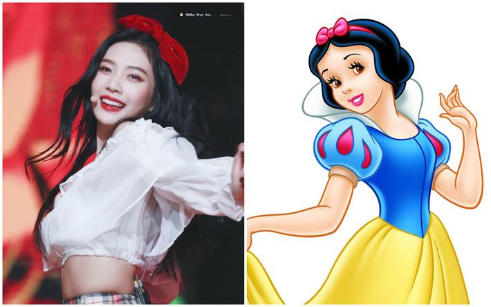 Nhờ stylist quá lậm phim hoạt hình, Joy (Red Velvet) bỗng dưng trở thành công chúa Disney đời thực tới gần chục lần - Ảnh 1.