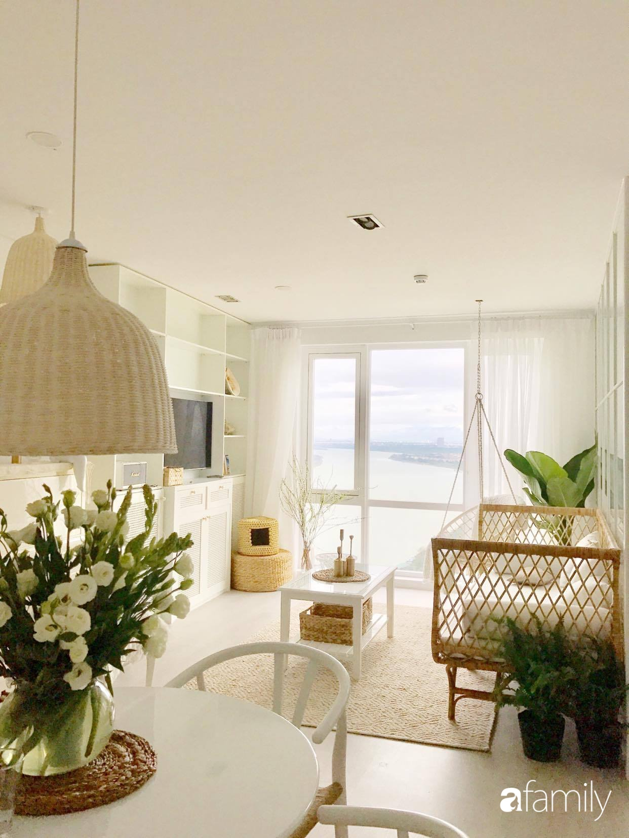 Căn hộ 80m2 view sông Hồng đẹp như thơ nhờ cách tự décor nội thất mộc mạc của nữ họa sĩ kiêm nhà thiết kế thời trang - Ảnh 5.