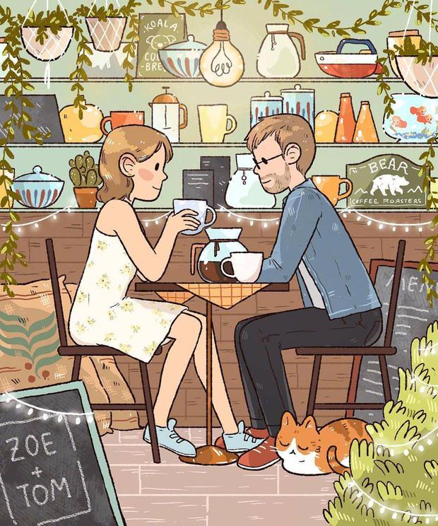 Bộ tranh cực dễ thương về tình yêu: Cuộc đời dài là thế, cớ sao cứ chịu cảnh một mình? - Ảnh 9.