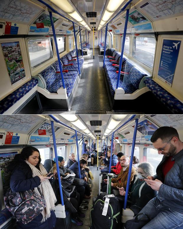 Loạt ảnh Before - After cho thấy London vắng lặng đến siêu thực sau lệnh phong tỏa để chống dịch Covid-19 - Ảnh 3.