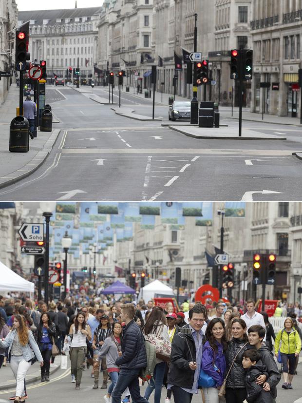 Loạt ảnh Before - After cho thấy London vắng lặng đến siêu thực sau lệnh phong tỏa để chống dịch Covid-19 - Ảnh 7.