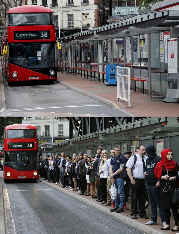 Loạt ảnh Before - After cho thấy London vắng lặng đến siêu thực sau lệnh phong tỏa để chống dịch Covid-19 - Ảnh 5.