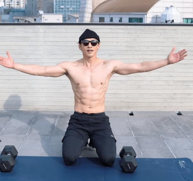 Ngộp thở vì màn tập thể dục khoe si cu la của Bi Rain: Thành quả giảm 10kg gây choáng, nhất Kim Tae Hee rồi! - Ảnh 6.