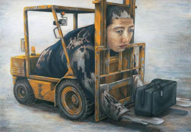 Qua đời ở tuổi 31, họa sĩ Nhật để lại loạt tác phẩm siêu thực ám ảnh thế giới, nhiều dân công sở thấy mình trong đó - Ảnh 3.