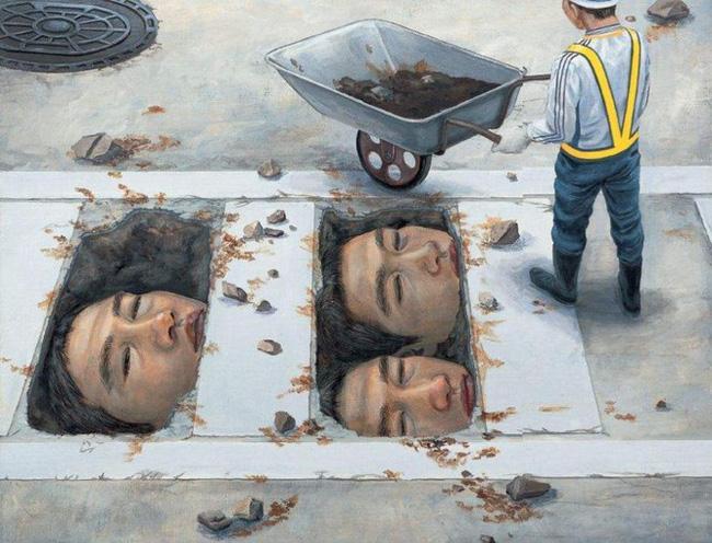 Qua đời ở tuổi 31, họa sĩ Nhật để lại loạt tác phẩm siêu thực ám ảnh thế giới, nhiều dân công sở thấy mình trong đó - Ảnh 22.