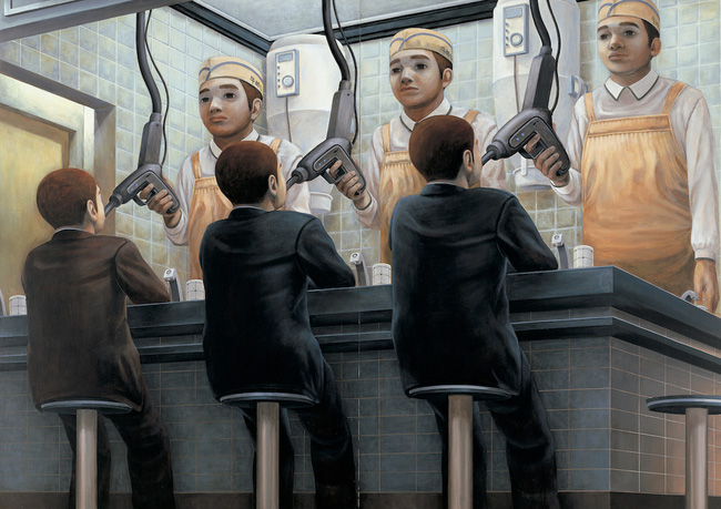 Qua đời ở tuổi 31, họa sĩ Nhật để lại loạt tác phẩm siêu thực ám ảnh thế giới, nhiều dân công sở thấy mình trong đó - Ảnh 18.