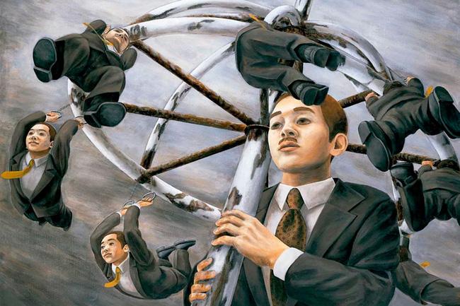 Qua đời ở tuổi 31, họa sĩ Nhật để lại loạt tác phẩm siêu thực ám ảnh thế giới, nhiều dân công sở thấy mình trong đó - Ảnh 4.