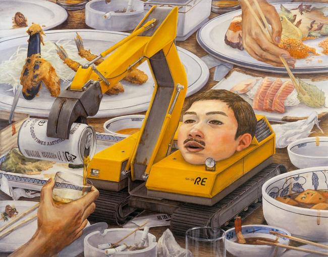 Qua đời ở tuổi 31, họa sĩ Nhật để lại loạt tác phẩm siêu thực ám ảnh thế giới, nhiều dân công sở thấy mình trong đó - Ảnh 15.