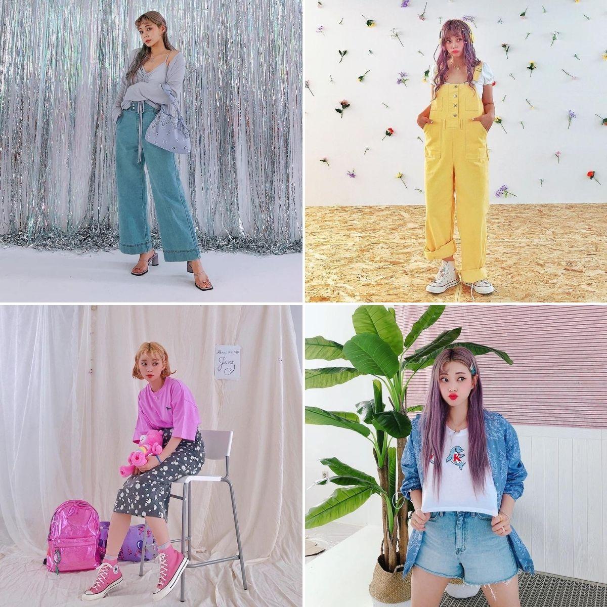 blogger thời trang hàn quốc kim hyein phong cách trẻ trung
