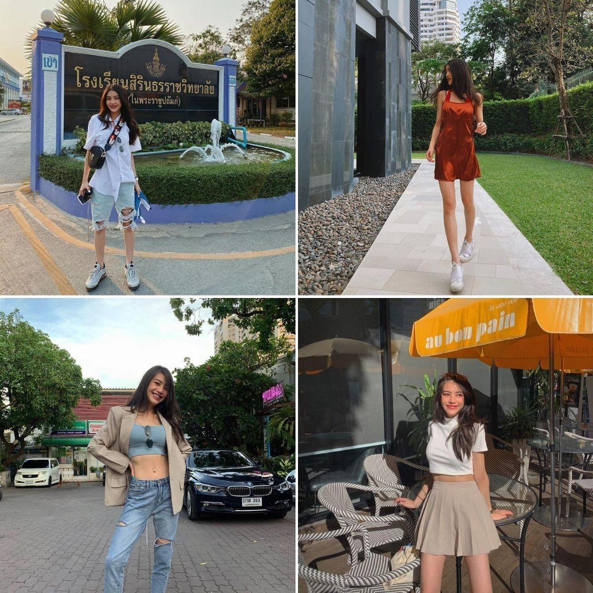 blogger thời trang theo phong cách retro hiện đại Pachabadee Tantaputta