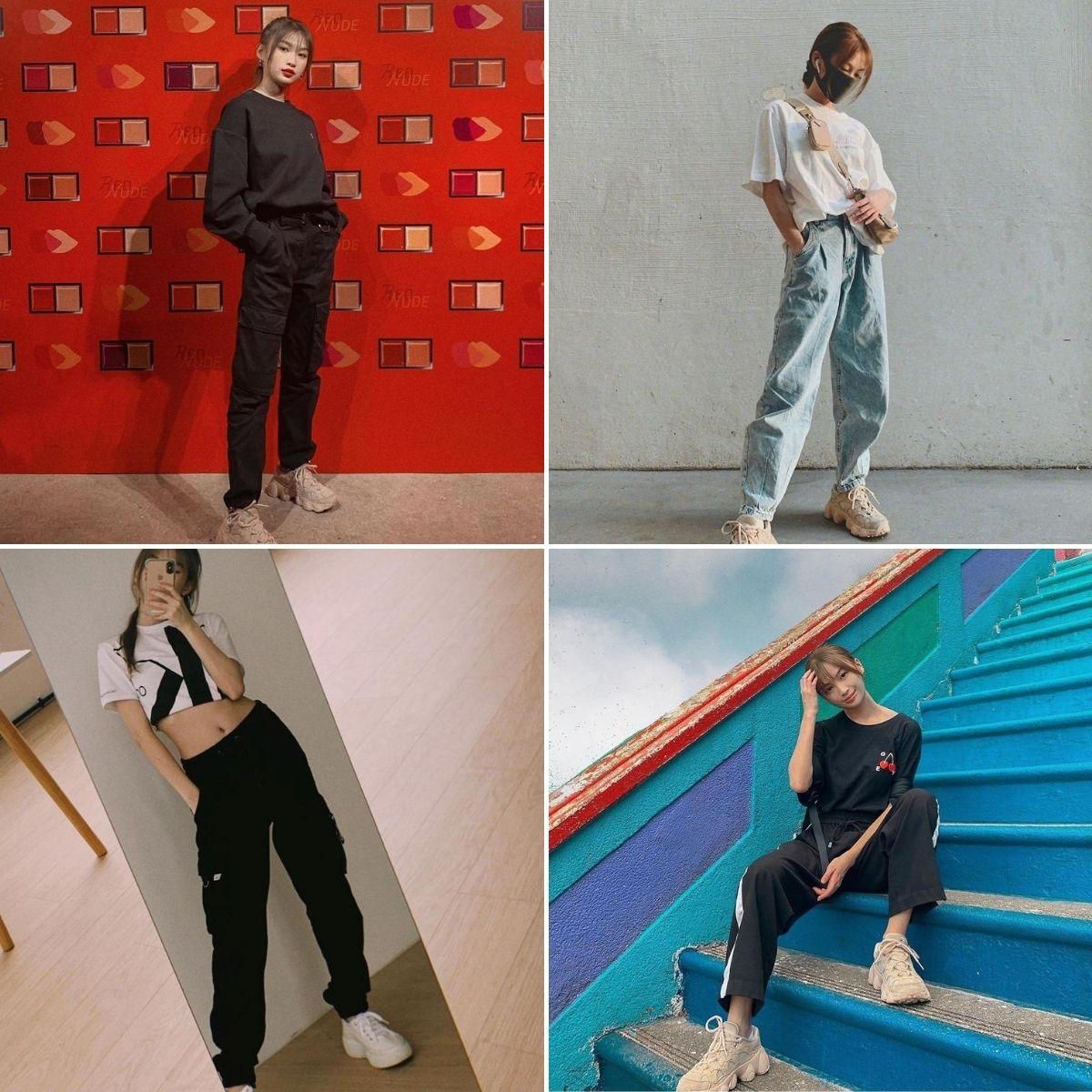 blogger thời trang theo phong cách athleisure soh pei shi