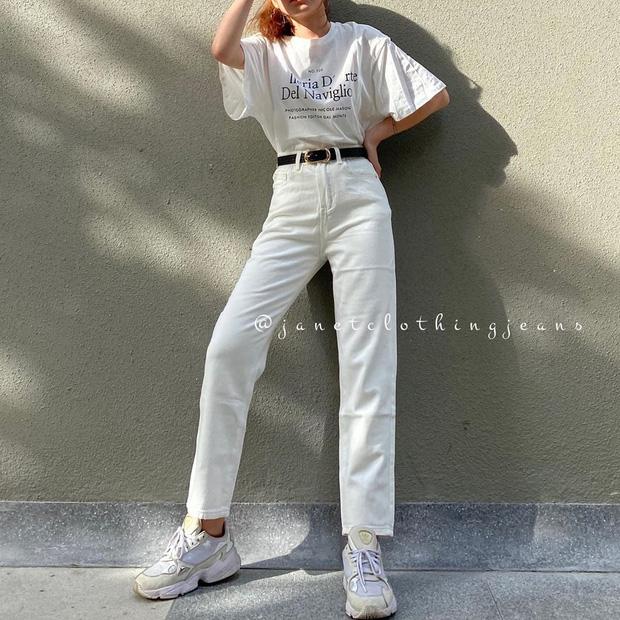 """4 chiêu mặc đẹp với quần jeans trắng bạn nhất định phải """"găm"""" nếu muốn cải tổ style bình bình - Ảnh 5."""