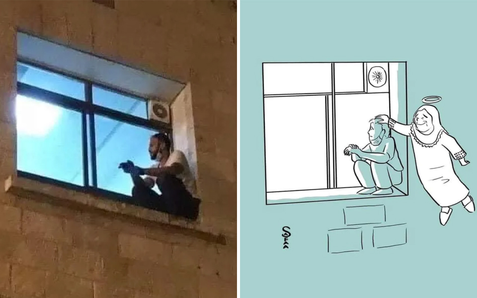 Con trai bất chấp nguy hiểm mỗi ngày trèo lên cửa sổ bệnh viện để thăm mẹ mắc Covid-19 từ xa đến khi bà qua đời