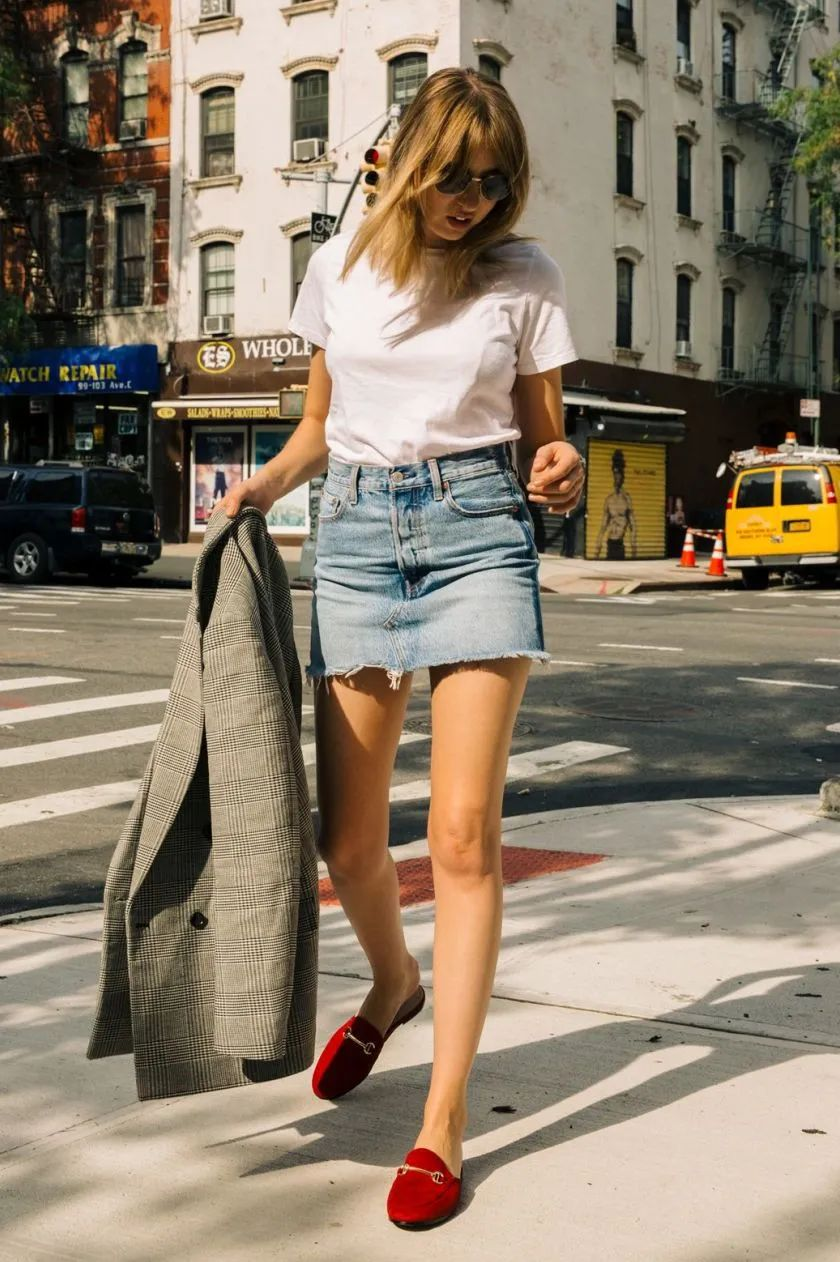 Đừng mãi quanh quẩn với giày đen/trắng nữa, giày đỏ mới thực sự giúp nâng tầm style và khiến bạn trông sang như gái Pháp - Ảnh 8.