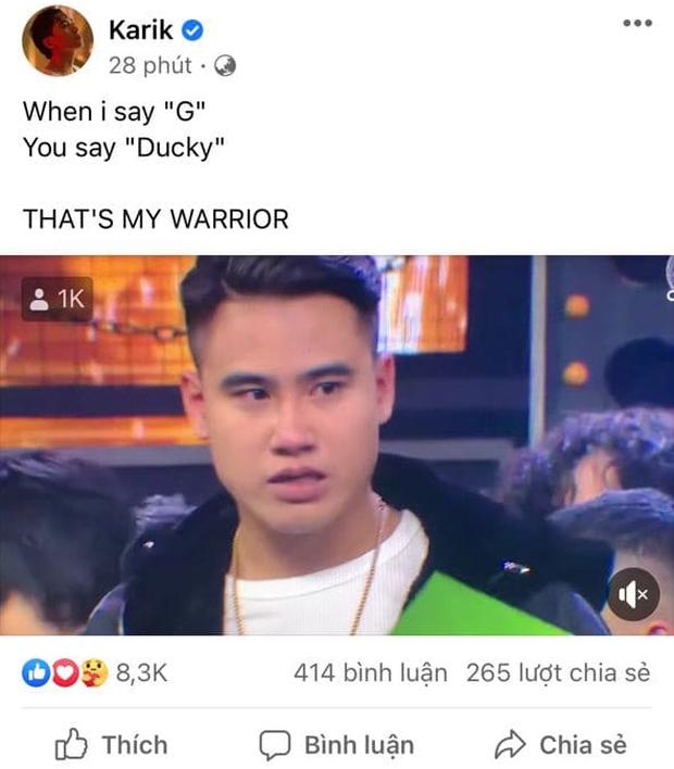 2 giờ sáng, Karik vẫn đăng đoạn clip gây tranh cãi của GDucky và trải lòng Dế Choắt hoàn toàn xứng đáng với ngôi vị Quán quân - Ảnh 1.