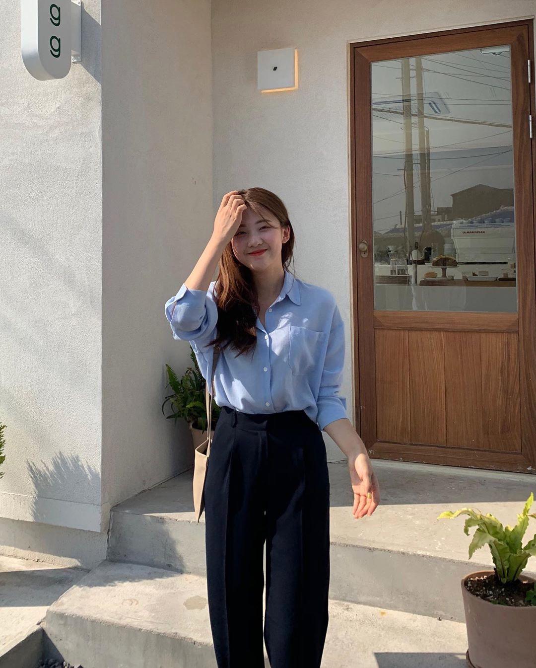 Hội con gái Hàn hay mix quần ống suông với 3 kiểu áo này để ghi điểm sành điệu và sang xịn nhất - Ảnh 14.
