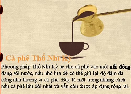 Thưởng thức cà phê qua các thời kỳ