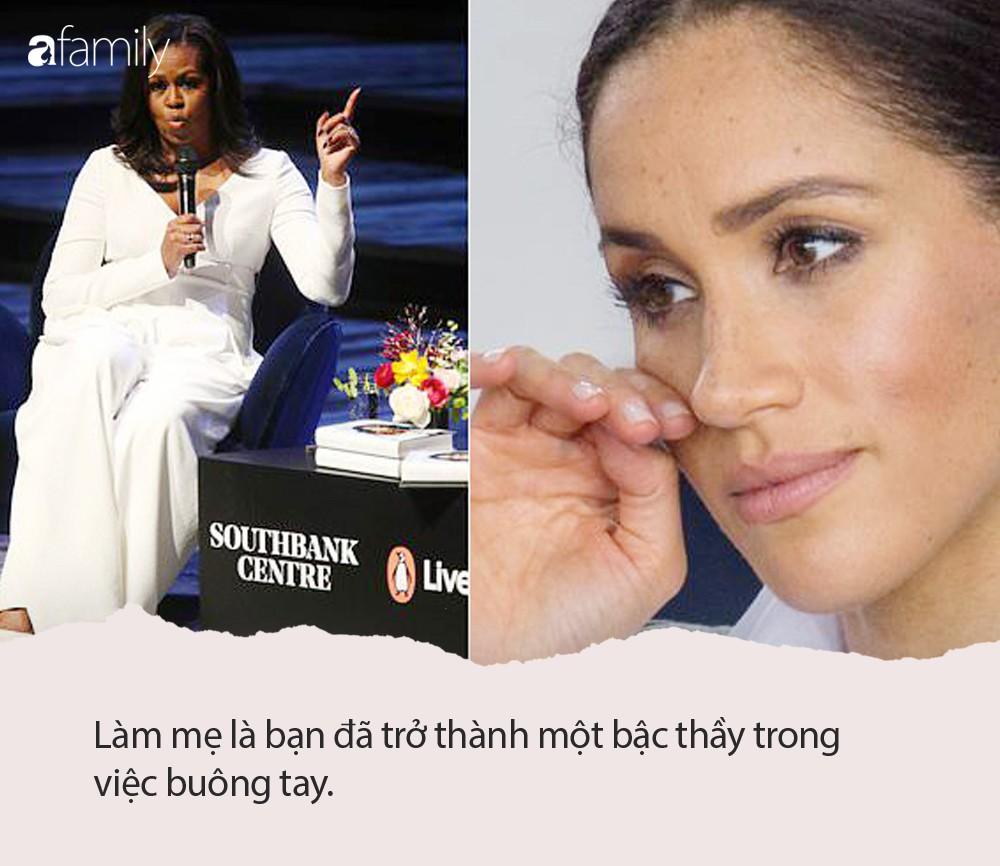 Nàng dâu hoàng gia Meghan lặng người khi nghe lời khuyên nuôi dạy con thấm thía của bà Michelle Obama