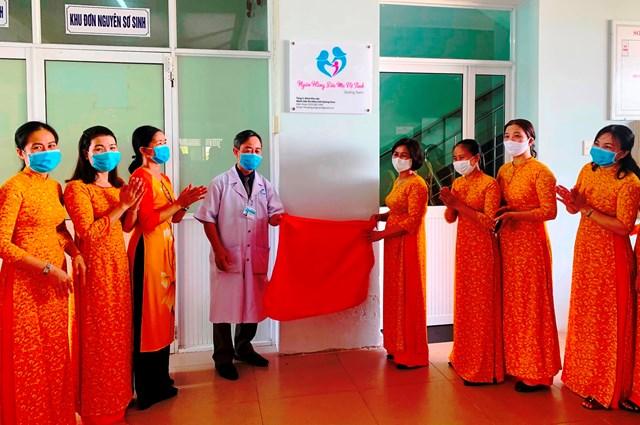 Khai trương Ngân hàng sữa mẹ vệ tinh đầu tiên ở Việt Nam
