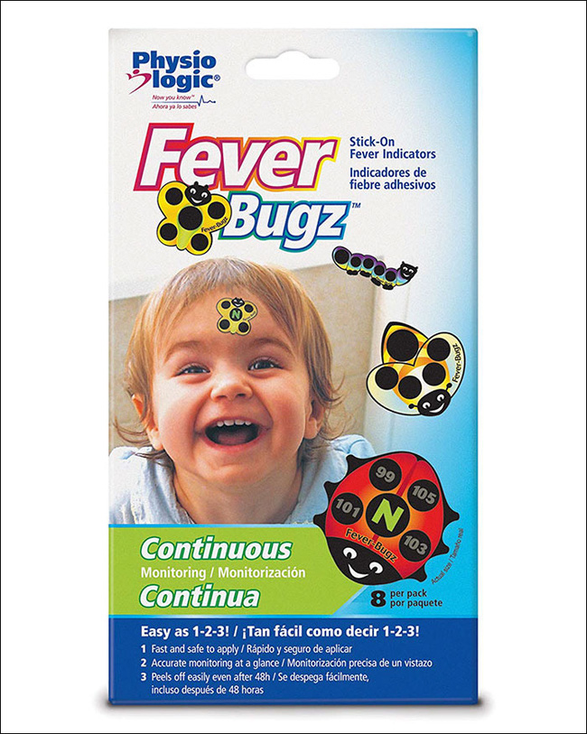 Miếng dán nhiệt kế - cứu cánh hữu ích cho các bố mẹ thoát khỏi cảnh vật lộn đo nhiệt độ cho con mỗi lần ốm sốt