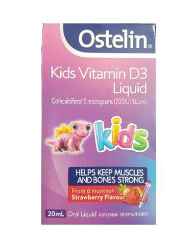 Vitamin D Ostelin Liquid Kids Dạng Nước Của Úc 20ml