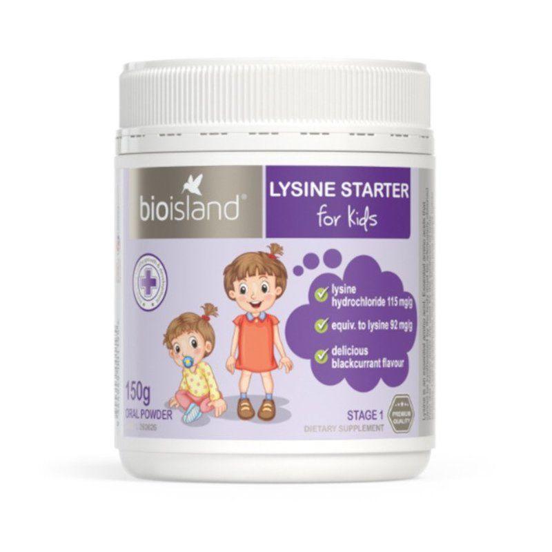 Bột tăng cân và chiều cao Lysine Bio Island 150g cho trẻ dưới 6 tuổi (mẫu mới)