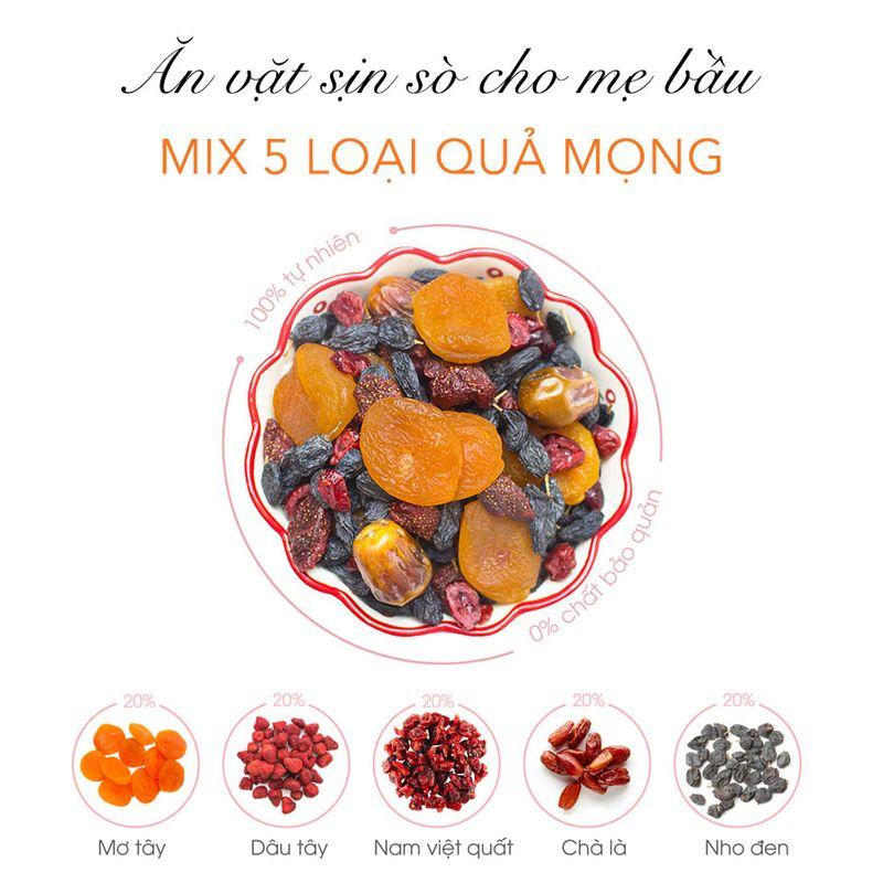 Ăn vặt mẹ bầu - Mix Fruit Quả Mọng (600gr)